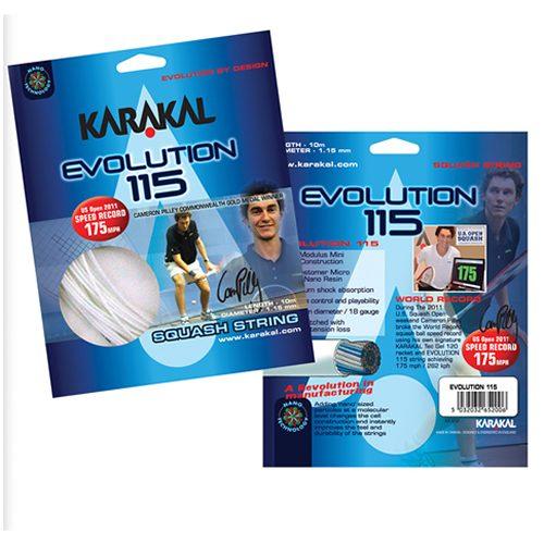 Karakal Evolution 115 Squash Χορδές 10M Σετ