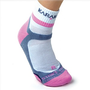 Karakal X4-Technical, κάλτσα αστραγάλου, Λευκό και Ροζ