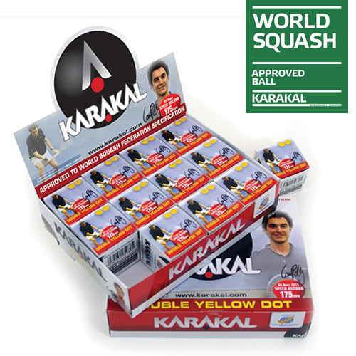 Karakal διπλή κίτρινη Squash μπάλες